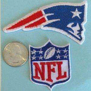 Patriots patch NFL team iron on  New England DIY